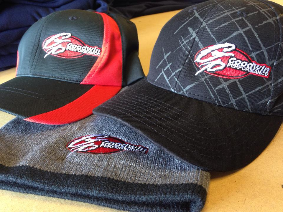 These are three different hats with the Goodwin Performance logo.